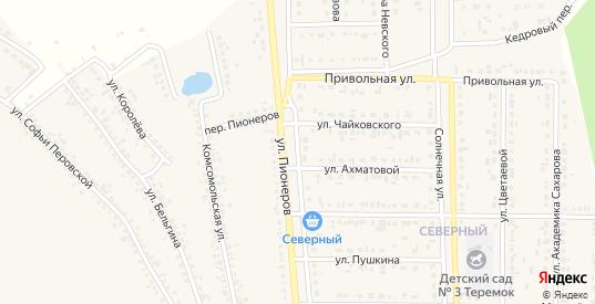 Улица 100-й стрелковой дивизии в Шебекино с номерами домов на карте. Спутник и схема онлайн