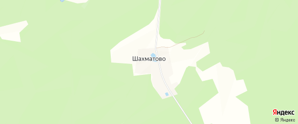 Карта деревни Шахматово в Московской области с улицами и номерами домов