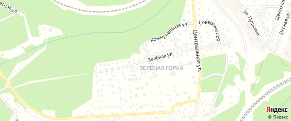 Зеленая улица на карте территории Дачи Зеленой горки Московской области с номерами домов