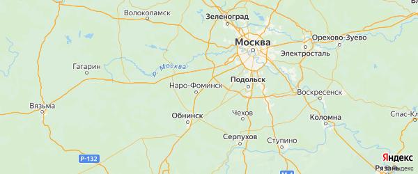 Карта Новофедоровского поселения города Москвы с городами и населенными пунктами