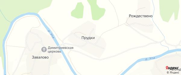 Карта деревни Прудки в Тульской области с улицами и номерами домов