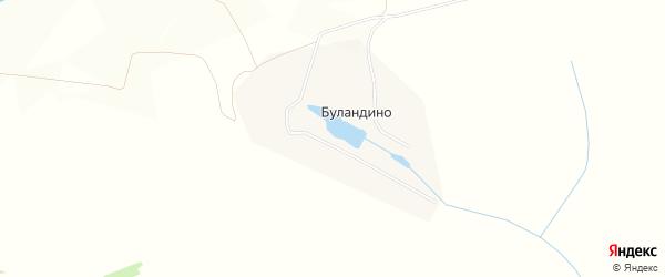 Карта деревни Буландино в Тульской области с улицами и номерами домов