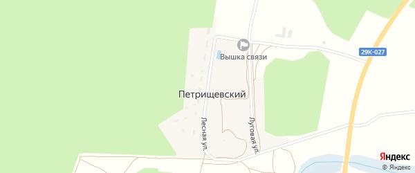 Лесная улица на карте деревни Орехово Калужской области с номерами домов