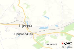 Карта г. Щигры Курская область