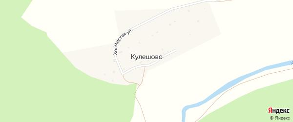 Холмистая улица на карте деревни Кулешово Калужской области с номерами домов