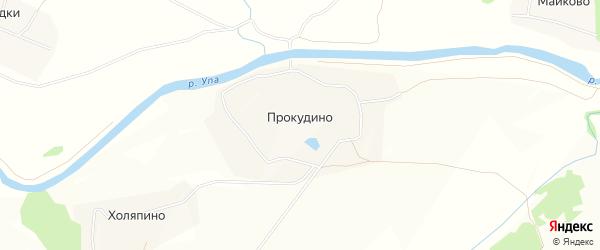 Карта деревни Прокудино в Тульской области с улицами и номерами домов