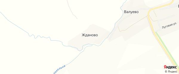 Карта деревни Жданово (Ботвиньевская с/а) в Тульской области с улицами и номерами домов