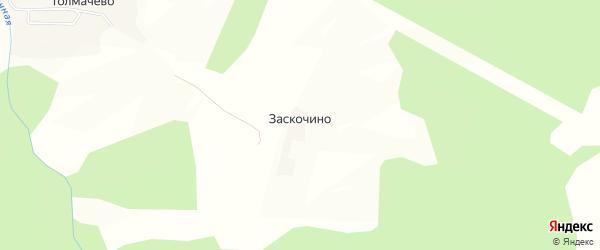 Карта деревни Заскочино в Калужской области с улицами и номерами домов