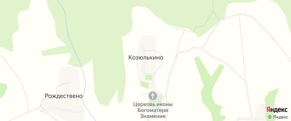 Карта поселка Козюлькино в Тульской области с улицами и номерами домов