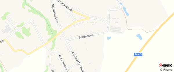 Веселая улица на карте Шебекино с номерами домов