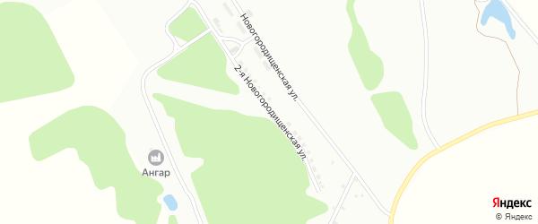 Новогородищенская 2-я улица на карте Алексина с номерами домов