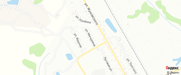 Улица Мичурина на карте Алексина с номерами домов