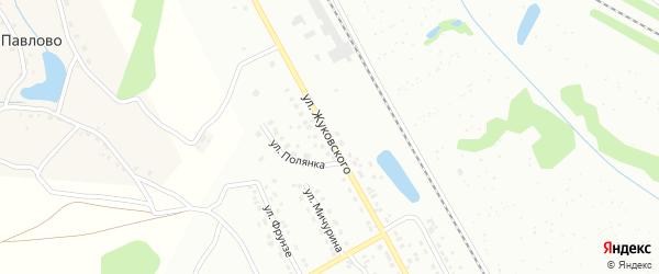 Улица Жуковского на карте Алексина с номерами домов