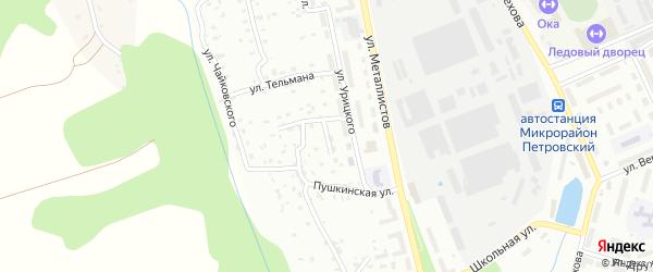 Ключевая улица на карте Алексина с номерами домов