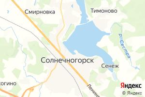 Карта г. Солнечногорск