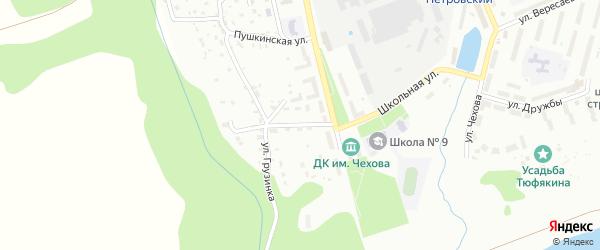 Грузинский переулок на карте Алексина с номерами домов