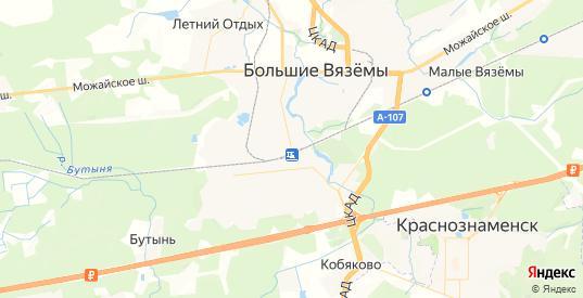 Карта Голицыно с улицами и домами подробная. Показать со спутника номера домов онлайн