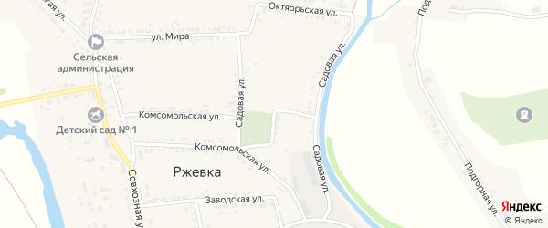 Садовая улица на карте села Ржевки с номерами домов