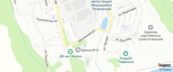 Школьная улица на карте Алексина с номерами домов