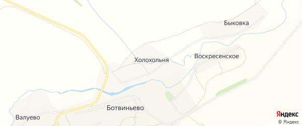 Карта деревни Холохольни в Тульской области с улицами и номерами домов