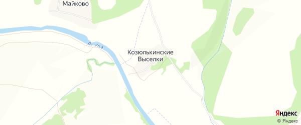 Карта деревни Козюлькинские Выселков в Тульской области с улицами и номерами домов