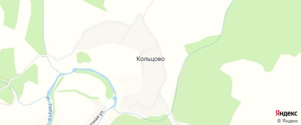 Карта деревни Кольцово в Калужской области с улицами и номерами домов