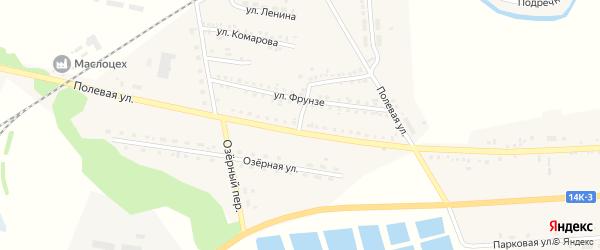 Улица Комарова на карте села Ржевки с номерами домов