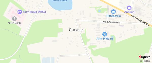 Лесная улица на карте деревни Лыткино с номерами домов