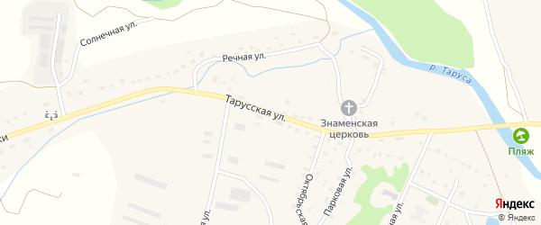 Тарусская улица на карте села Лопатино Калужской области с номерами домов