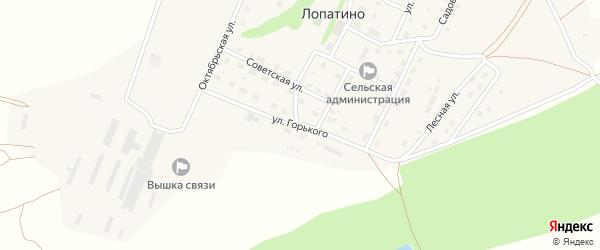Улица Горького на карте села Лопатино Калужской области с номерами домов