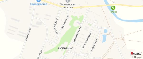 Цветочный переулок на карте села Лопатино Калужской области с номерами домов