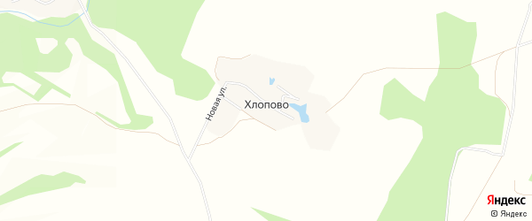 Карта деревни Хлопово в Калужской области с улицами и номерами домов