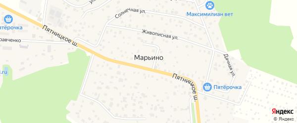Микрорайон ПЖСК Марьино-1 на карте деревни Марьино с номерами домов
