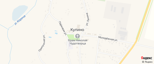 Прилужная улица на карте села Купино с номерами домов