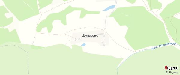 Карта деревни Шушково в Тульской области с улицами и номерами домов