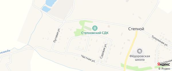 Молодежная улица на карте Степного поселка Тульской области с номерами домов