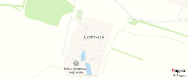 Карта села Скобачево в Тульской области с улицами и номерами домов