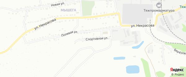 Спортивная улица на карте Алексина с номерами домов