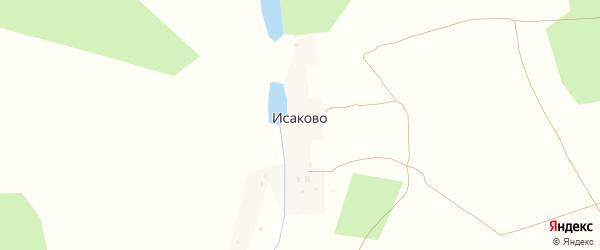 Улица Липовая Роща на карте деревни Исаково (лопатинского с/с) Калужской области с номерами домов