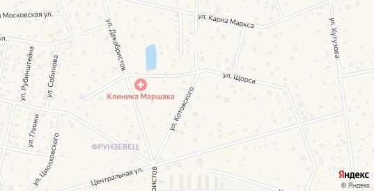 Улица Котовского в Апрелевке с номерами домов на карте. Спутник и схема онлайн