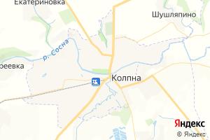 Карта пгт Колпна