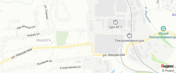 Дачный переулок на карте Алексина с номерами домов