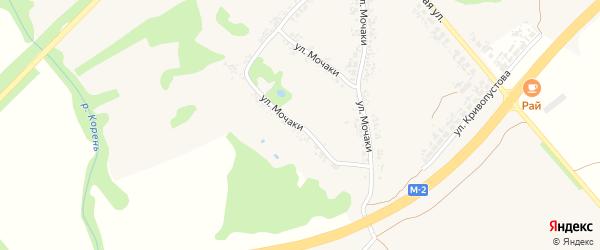 Улица Мочаки на карте села Алексеевки с номерами домов