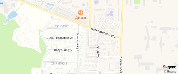 Сосновая улица на карте Краснознаменска с номерами домов