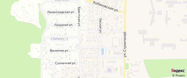 Сиреневая улица на карте Краснознаменска с номерами домов