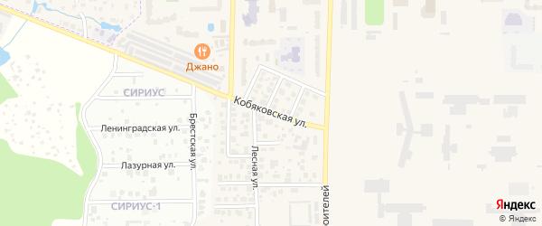 Кобяковская улица на карте Краснознаменска с номерами домов