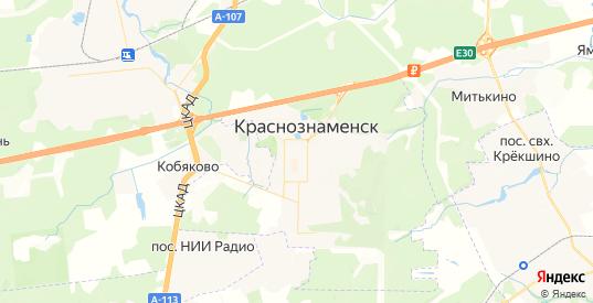 Карта Краснознаменска с улицами и домами подробная. Показать со спутника номера домов онлайн
