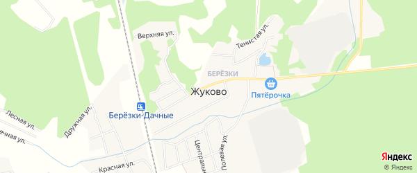 Карта поселка Жуково в Московской области с улицами и номерами домов