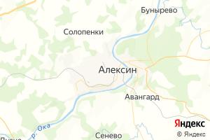 Карта г. Алексин Тульская область