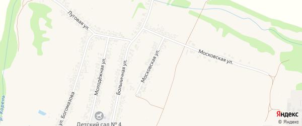 Московская улица на карте села Алексеевки с номерами домов